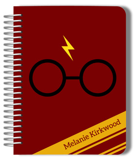 Red & Yellow Stripes Wizard Custom Planner