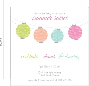 Colorful Lanterns Summer Soiree Party Invite