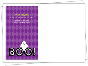 Purple Boo Ghost Halloween Birthday Envelope