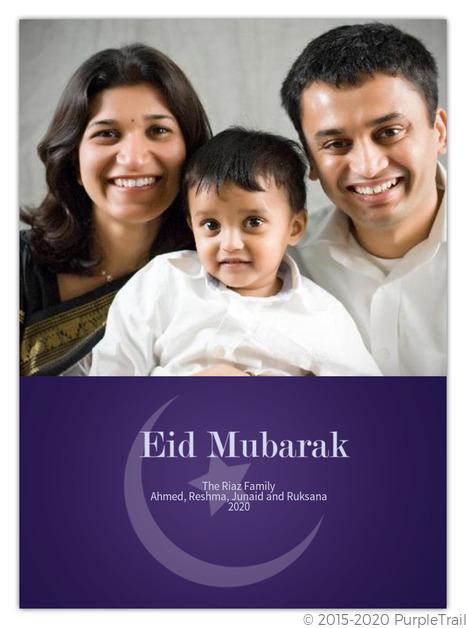 New Moon Eid Card
