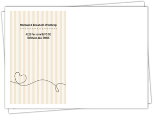 Cream And Black United States Map Envelope