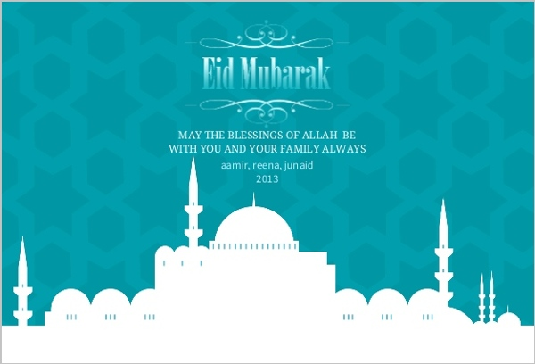 White mosque patterned eid card eid cards white mosque patterned eid card stopboris Image collections