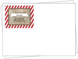 Rustic Red Stripe Pirate Envelope