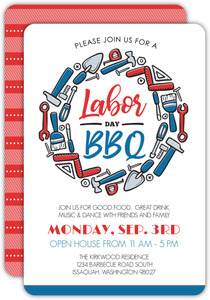 Labor Day Tools BBQ Open House Invitation