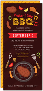 Grilling BBQ Labor Day Celebration Invitation
