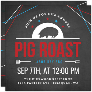 Annual Pig Roast Labor Day Invitation