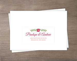 Chalkboard Country Floral Set Mailing Envelopes