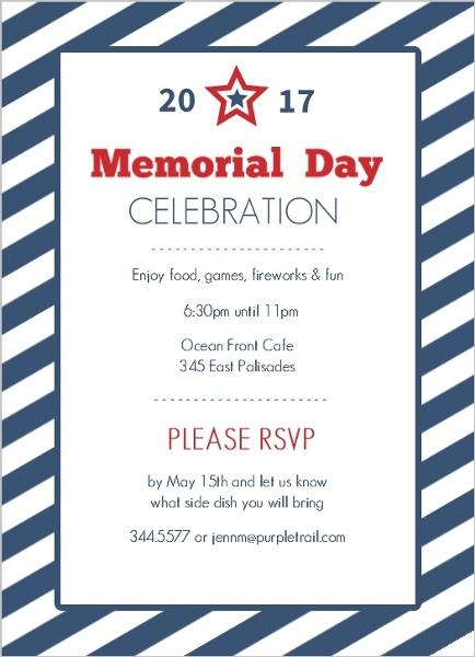 memorial day invitations