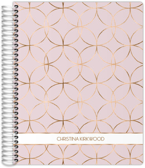 Faux Rose Gold Circles Weekly Planner