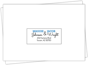 Personalized State Wedding Envelopes