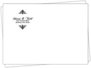 Black And White Elegant Monogram Envelope - 458