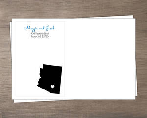 Personalized State Wedding Envelope