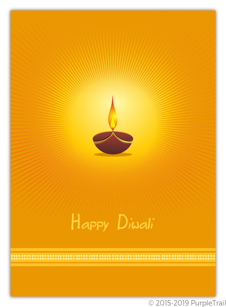 Orange diya lamp diwali greeting card diwali cards orange diya lamp diwali greeting card m4hsunfo