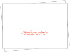 Coral And Mint Country Floral Mailing Envelope
