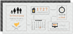 Gray Chevron Icon Thanksgiving Invitation
