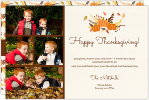 Orange Photo Collage Thanksgiving Card