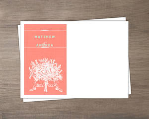 Coral And Mint Country Floral Envelope