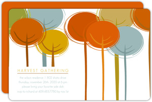 Harvest Trees Thanksgiving Invitation