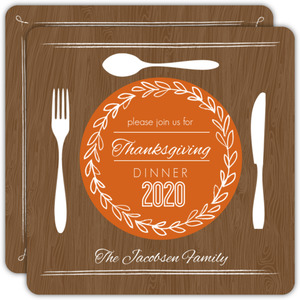 Classic Thanksgiving Photo Invitations