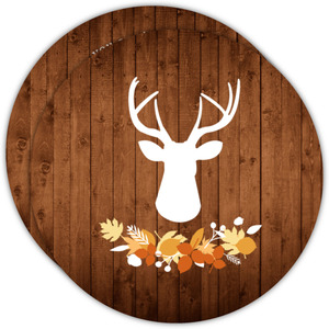 Woodsy Deer Thanksgiving Invitation