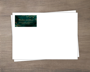 Gorgeous Emerald Watercolor Custom Envelope