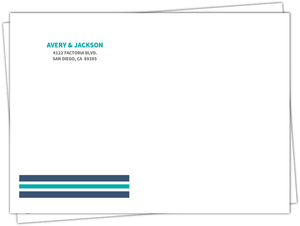 Anchor Navy And Teal  Envelope