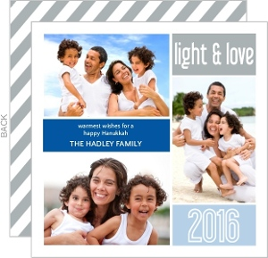 Colorful Photo Collage Hanukkah Card