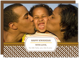 Brown and Orange Pattern Kwanzaa Card