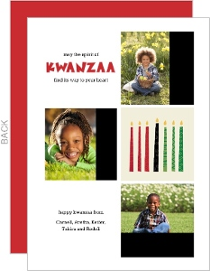 Whimsical Candles Kwanzaa Card