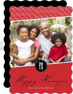 Red And Black Kwanzaa Card
