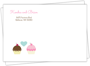 Cupcake Wedding Envelope