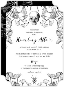 Gothic Ginkgo Halloween Party Invitation