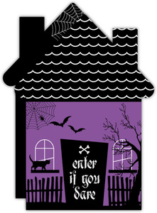 Spooky Haunted House Halloween Party Invitation
