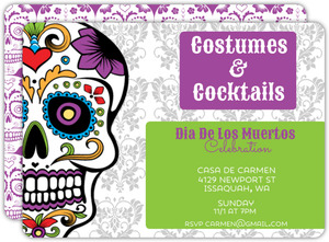 Halloween Party Invitations - Day of the dead party invitation template