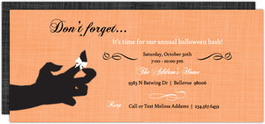 Orange Don t Forget  Halloween Party Invitation
