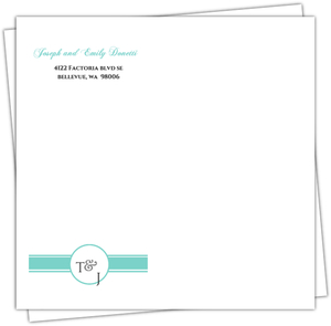 Sweet Monogram Envelope