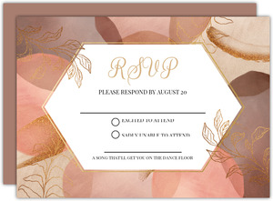 Warm Abstract Shapes Wedding Response Card
