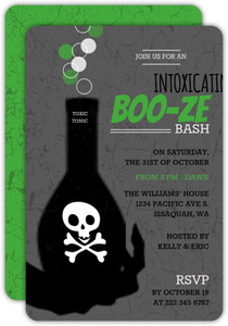 Toxic Potion Halloween Adult Halloween  Party Invitation
