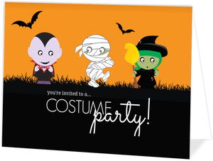 Monster Kids Halloween Party Invitation