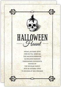 Haunting Skull  Halloween Party Invitation