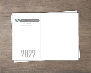 Gray And Blue Hello Custom Envelope