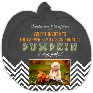 Family Pumpkin Carving Night  Halloween Party Invitation