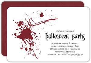 Red Blood Splatter Party Invitation