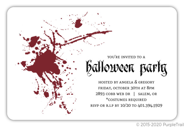 Red Blood Splatter Party Invitation
