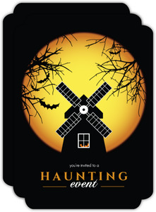 Haunting Windmill Halloween Party Invitation