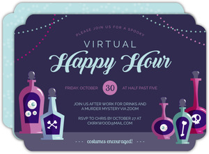 Happy Hour Potions Halloween Party Invitation