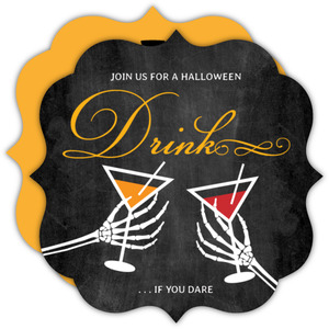 Toxic Drink Halloween Party Invite
