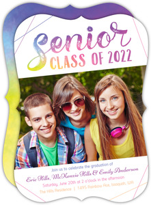 Colorful Senior Joint Graduation Invitation