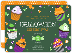 Spooky Cupcakes Halloween Dessert Party Invitation
