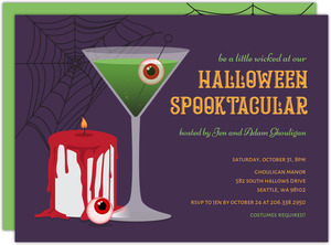Spooktacular Martini Halloween Party Invitation